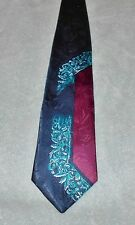 KETCH  ART DECO NECK TIE   FREE SHIPPING  NAVY BLUE BLUE RED
