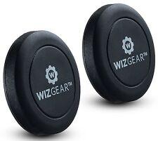 WizGear Flat Stick On Dashboard Magnetic Car Mount Holder For Smartphones 2 Pack