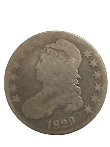 1829 Capped Bust Half Dollar 50C