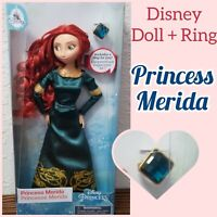 "Disney Parks Princess Classic 11.5"" Dolls With Rings Merida Brave"