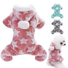 Pet Dog Fleece Clothes Pajamas Winter Hoodie Coat Puppy Cat Jumpsuit Costume