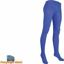 BLUE LADIES GLAMOUR FASHION TIGHTS - UK 10-14 - womens ladies clothing accessory