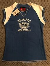 Indianapolis 2005 Motor Speedway Women's Short Sleeve Shirt Blue Small NWT