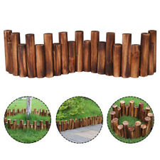KF_ KQ_ NEW Anti-Corrosion Wood Log Lawn Grass Edging Garden Flower Bed Border