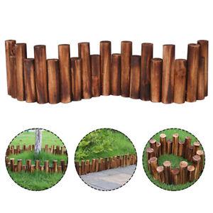 BL_ KQ_ NEW Anti-Corrosion Wood Log Lawn Grass Edging Garden Flower Bed Border F