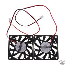 2Pcs DC 12V 60mm Brushless Desktop PC CPU Cooling Fan Cooler 2-Pin Quite Fan