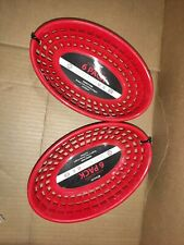 Bear Paw Products Plastic Deli Baskets - Perfect for Food - 12 Pack, Red 2x6ea