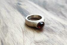 Red Garnet Solitaire Pinky Ring