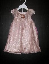 LAURA ASHLEY LONDON INFANT 24 MO. BLUSH LACE BUBBLE DRESS NWT