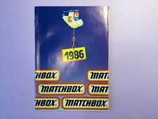 Matchbox Toys -  Catalogue - 1986 ( ORIGINAL )