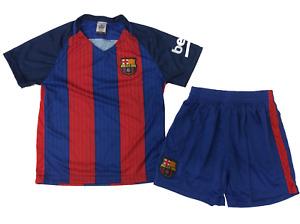 Soccer Fan Unbranded Barcelona Kids Football Soccer Jersey Set, Blue/Red,  YL