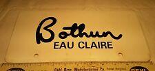 Vintage Advertising Dealership Plastic License Plate Auto Dealer Eau Claire WI