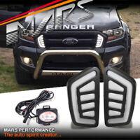 MARS Front Bumper Grille Grill Mesh LED DRL Light for FORD Ranger PX MK2 15-18