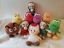 Super Mario Plush Lot. YOSHIS MARIO LUIGI TOAD GOOMBA 10 Total.
