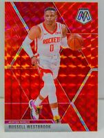 Russell Westbrook 2019-20 RED MOSAIC PRIZM Refractor Card #134 Houston Rockets