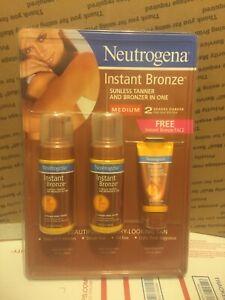 Neutragena Bronzer 2 4oz. Instant Bronze Foam Medium 1 2oz. Instant Bronze Face