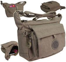Sportliche Handtasche UMHÄNGETASCHE Wasserabwesende Damentasche Urlaub  Stone