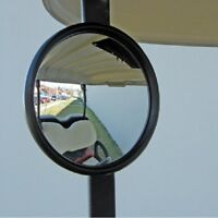GOLF CART MIRROR UNIVERSAL 5 INCH ROUND MIRROR FITS CLUB CAR EZGO YAMAHA