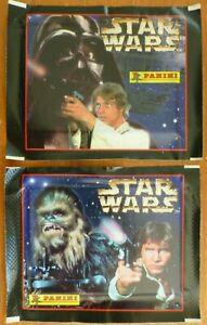 Panini Star Wars (1997) - 2 x Sticker Packs (both fronts)