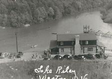CD-291 WV Weston Lake Riley Lodge Aerial View Real Photo Postcard RPPC Old Cars