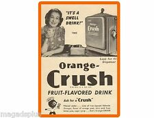 1946 Orange Crush Soda Ad Refrigerator / Tool Box Magnet Man Cave
