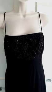 **MORGAN & CO  by Linda Bernell** black full length party/evening dress~Size 6/8