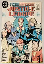 JUSTICE LEAGUE #1 (1987 DC) *1ST APP OF MAXWELL LORD* NM