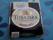 Scatola di latta porta tabacco Tobajara scatolo nero