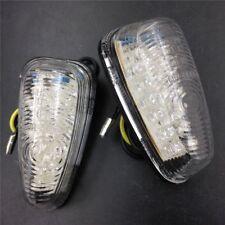 Universal Bike Clear LED Turn Signals Light Flush mount Blinker Motorcycle parts