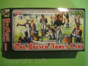 1:72 Strelets #001 Napoleon Frankriech Armee Lager Zelt etc.French army Camp