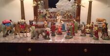 Rare Radko Christmas Handmade Paper Mache Nativity Set Marolin Germany 1994