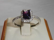 White Cocktail Amethyst Fine Rings
