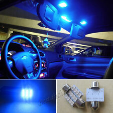 2X Blue LED Car Bulb 31mm Festoon 12 SMD Dome Map Interior  Light Lamp DE 3175