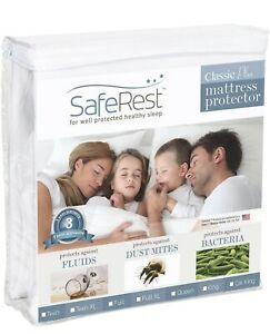 SafeRest Twin Extra Long (XL) Size Classic Plus Hypoallergenic 100% Waterproo...