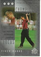 2001 UD SP Authentic Golf Tiger Woods Focus on a Champion Card FC1 Masters