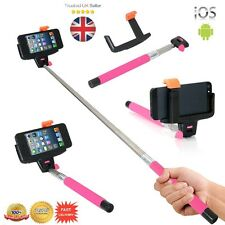 PINK Extendable Bluetooth Selfie Stick Monopod For iPhone Samsung HTC Phone