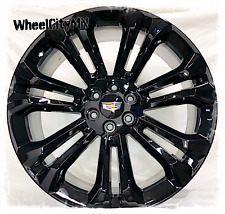 22 Inch Gloss Black 2019 Cadillac Escalade Oe Replica Wheels 6x55 New 4 Rims