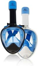 Full Face Snorkle Mask Easy Breathing & Foldable Adults Kids 180 Panoramic View