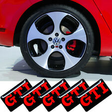 5x GTI Emblem Sticker Wheel Steering Interior Surface Decal For Golf (UK Stock)