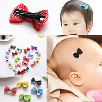 10PCS/Set Kids Baby Girls Ribbon Bow Hair Pin Hair Mini Bowknot Clips Hairpins