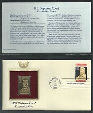 # 2415 U.S. SUPREME COURT, 1990 Gold Foil First Day Cover