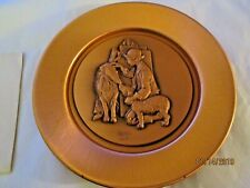 Vintage 1978 Norman Rockwell Making Friends Copper Plate With Coa 3rd In Series