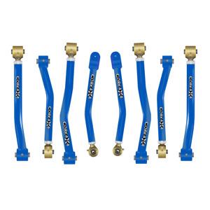 Core 4x4 Adjustable Control Arms Tier 4 Complete Set (Fits JL) - Blue