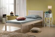 Birlea Corona Mexican Solid Wood White Rio 90cm Bedstead 3FT Single bed Frame