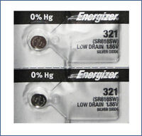 2 Pack Energizer 321 SR616SW SILVER OXIDE WATCH BATTERIES Ships from USA