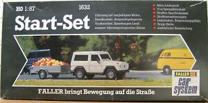 Faller Car System 1632 Start-Set Auto und Hänger Ovp mit umfangreichem Zubehör