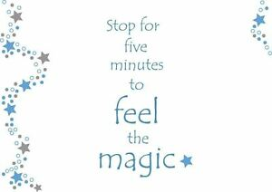 Scented Greeting Card - Stop for Five Minutes to Feel the Magic - Inspirational
