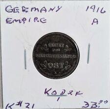 1916 A Germany 1 Kopek