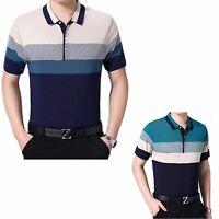 Mens Short Sleeve Polo Shirt / T-Shirt / Top L - XL - XXL