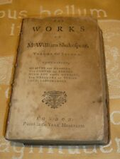 The Works of Shakespear Tonson Antique missing original front cover Vol II 1747.